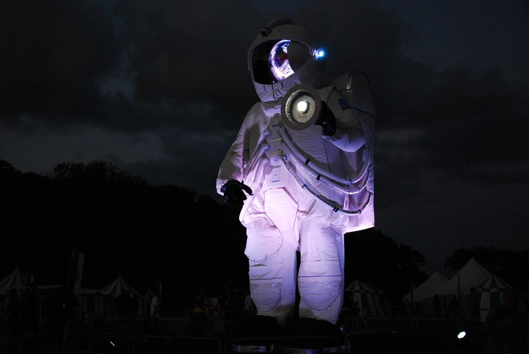 Camp Bestival Space Man Dorset UK