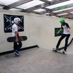 Don't Rain teaching at Weymouth skatepark