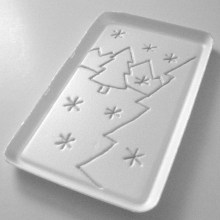 2. Draw your design on styrofoam surface (remember image will print backwards)