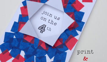 printable 4th invitation