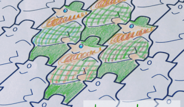 leprechaun tessellation printable