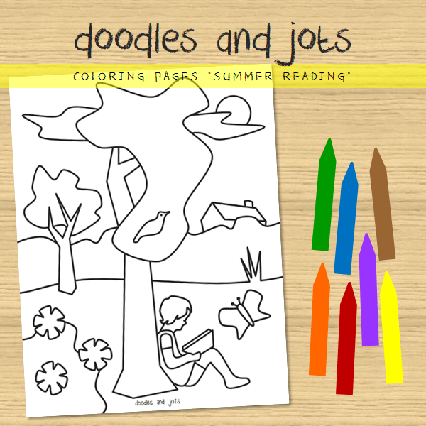 coloring page - summer reading