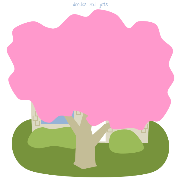 pink tree illustration