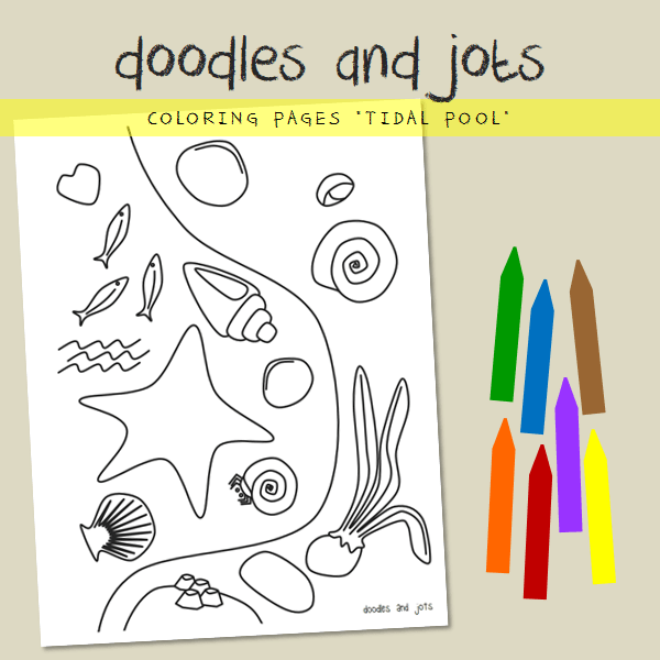 tidal pool coloring page