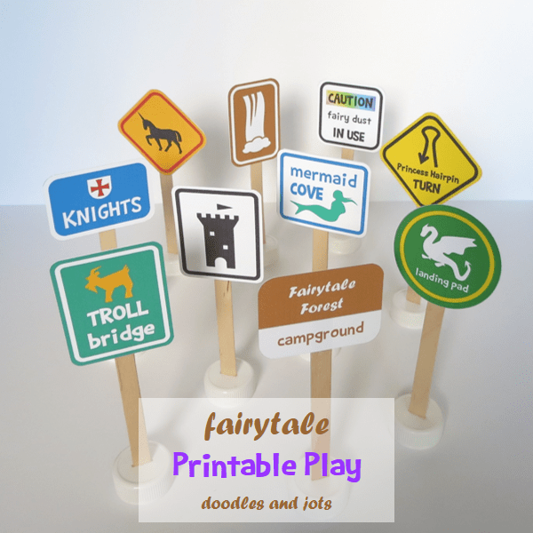Printable Fairytale Road Signs