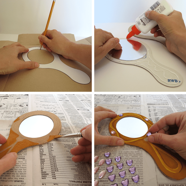 Mirror Craft Instructions