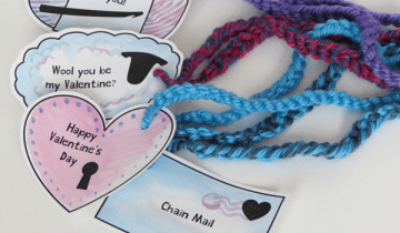 Crochet Valentines with Printable