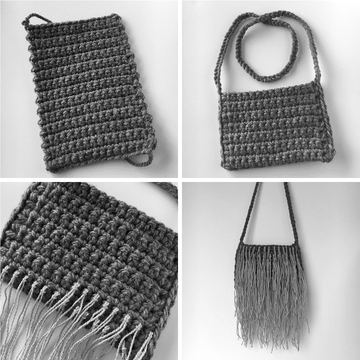 Crochet Fringe Bag Instructions