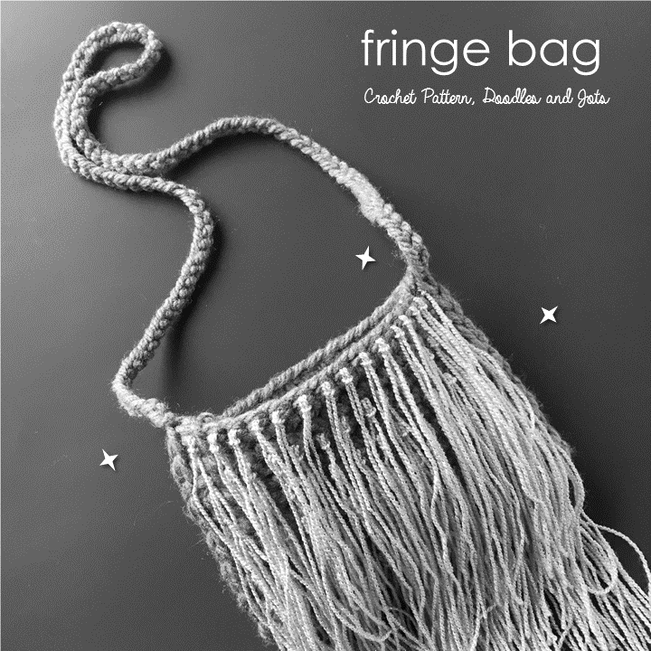 Easy Fringe Bag Free Crochet Pattern