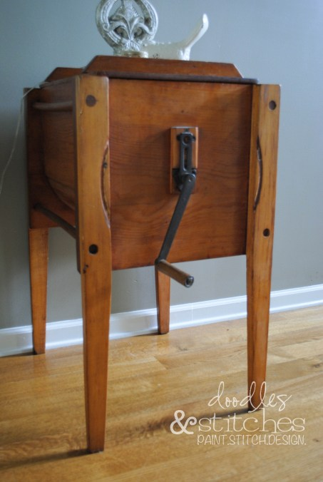 antique butter churn