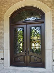 custom wood entry doors front n