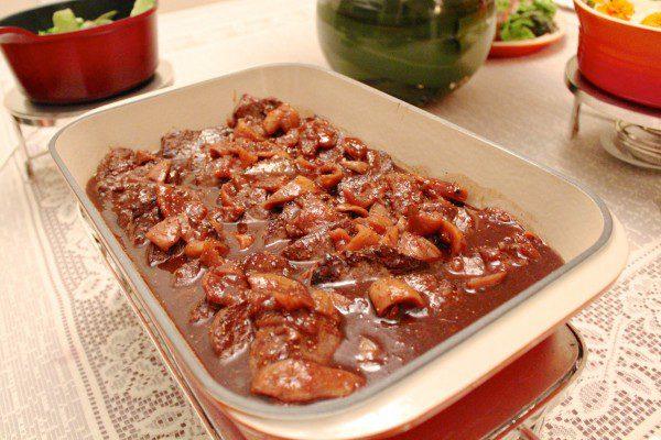 we cook buffet carne com figo