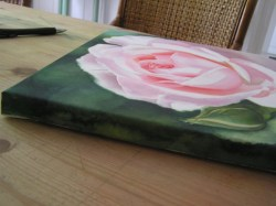 Small Of Watercolor On Canvas
