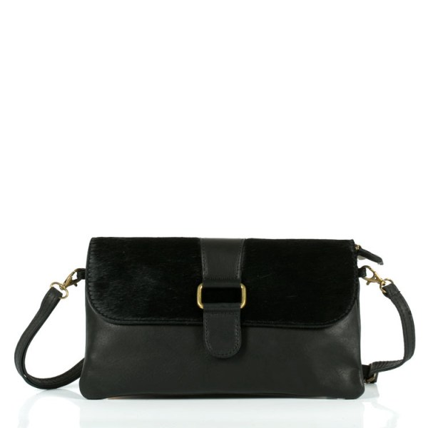Clutch leather handbag