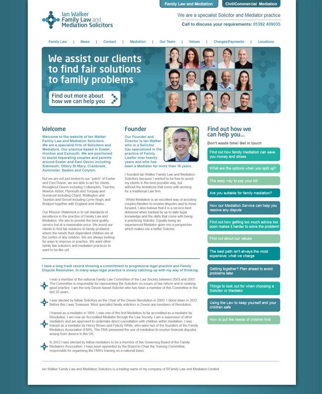 Website Design Family Law and Mediation Solicitors