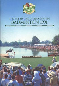 La locandina del The Whitbread Championships Badminton 1991
