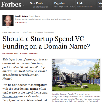 Should a Startup Spend VC Funding on a Domain Name?