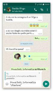 whatsapp citazione