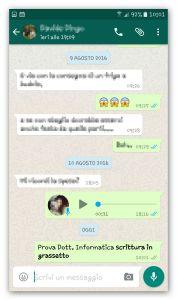 whatsapp scrittura in grassetto
