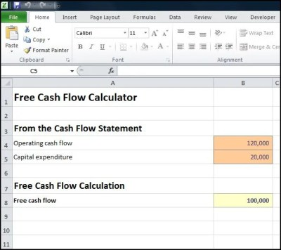 Free Cash Flow Calculator | Double Entry Bookkeeping
