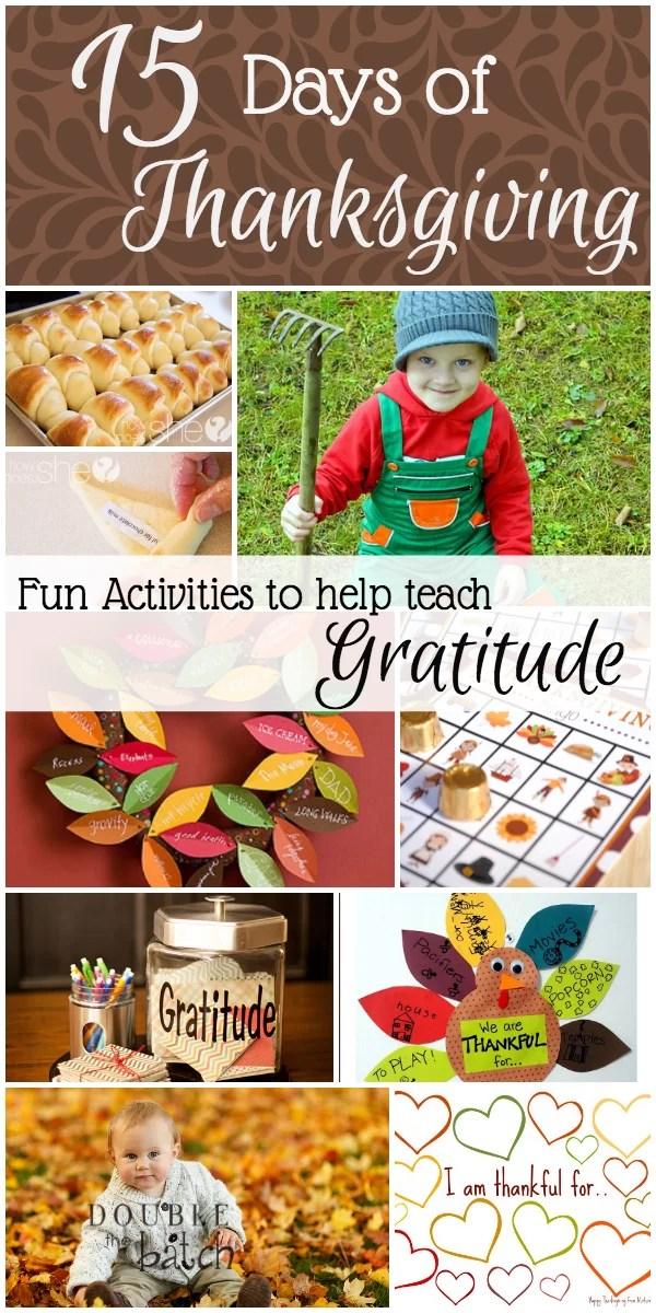 15 Days Of Thanksgiving 15 Fun Activities To Teach Gratitude