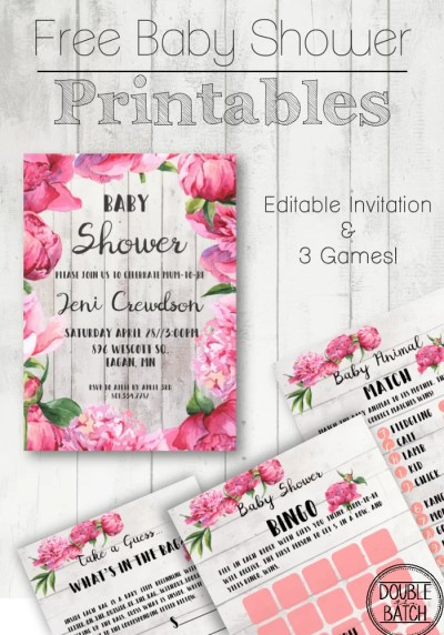 Free Baby Shower Printables - Double the Batch