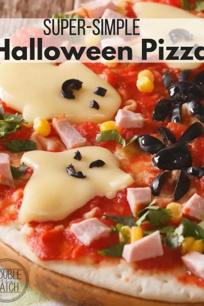 Super Simple Halloween Pizza