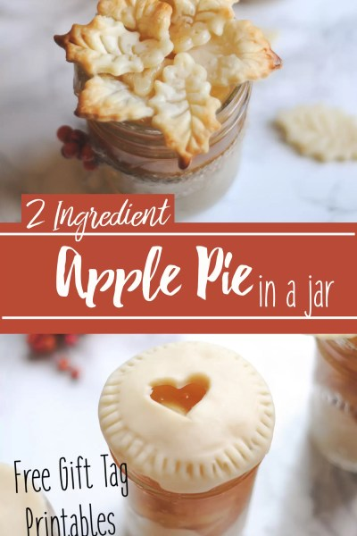 Apple Pie in a Jar with Gift Tags