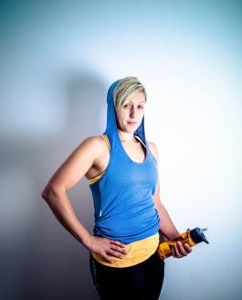 Hayley Orange Studio Portrait Shoot