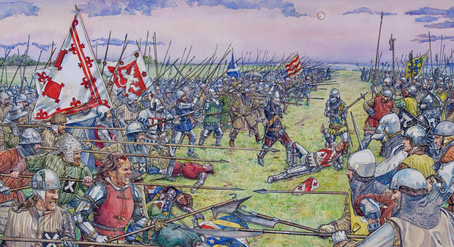 Battle of Otterburn  1388 Skirmish line at the battle of Otterburn   S  Walsh  Above