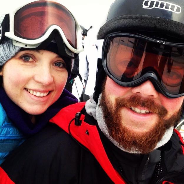 My brother & me (skiing selfie)