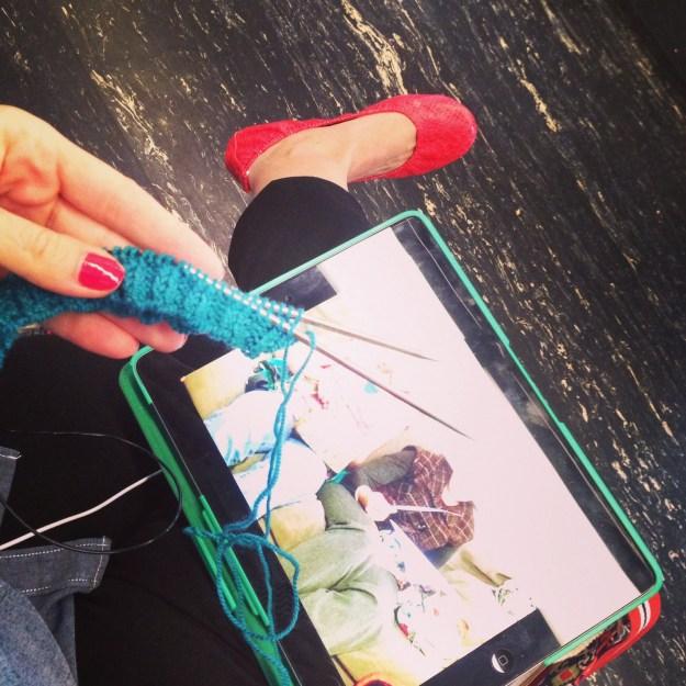 Train knitting