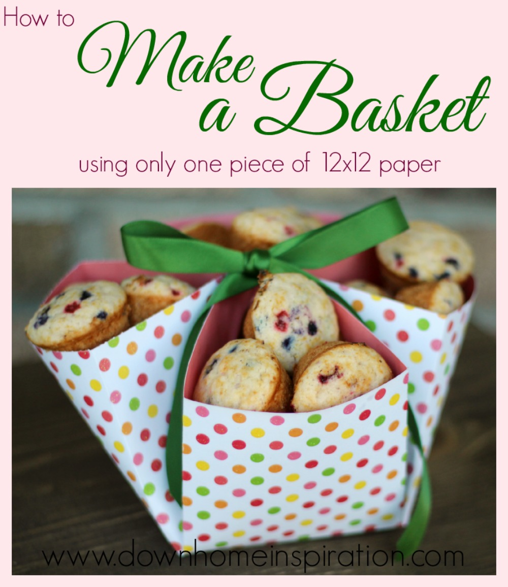 Make a Basket with only one piece of 12x12 paper