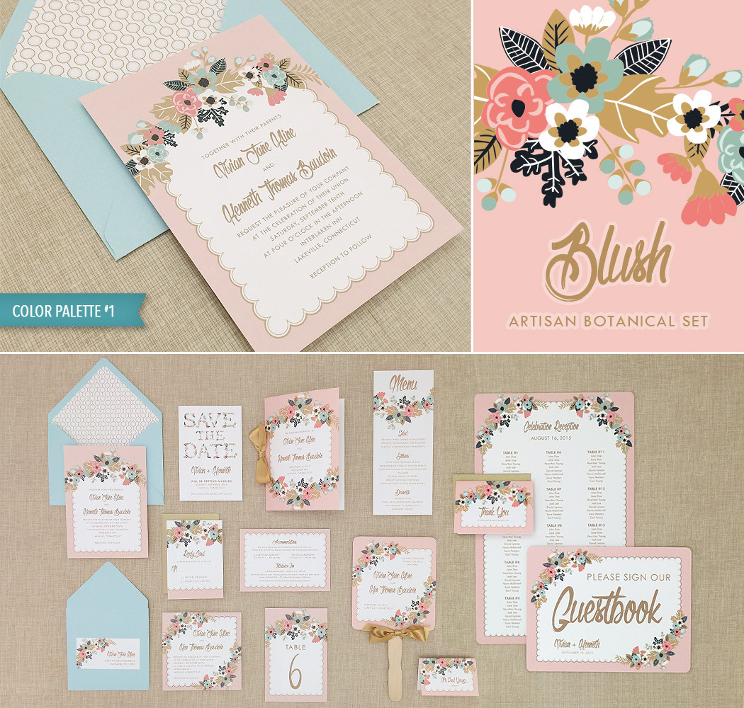 floral sprays with a vintage vibe in our new invitation suite floral wedding invitations DIY printable wedding invitation suite with 15 templates featuring floral sprays and delicate vintage pinks and