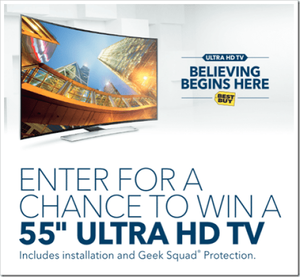 Click to Find Out How YOU Can Win a 4K TV