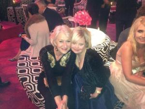 Lauren Potter with Helen Mirren at the 2013 Golden Globes.