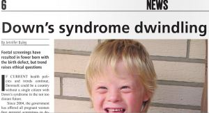 Copenhagen Post Downs Syndrome Dwindling July 20 2011
