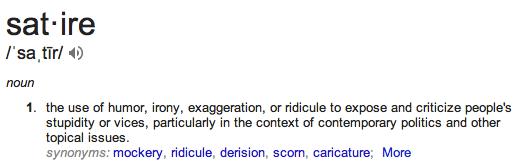 Satire definition