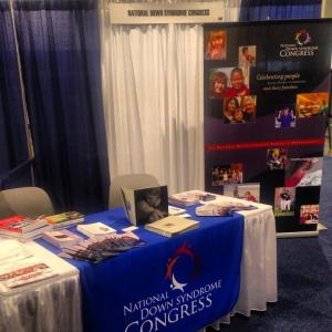 National Down Syndrome Congress' booth