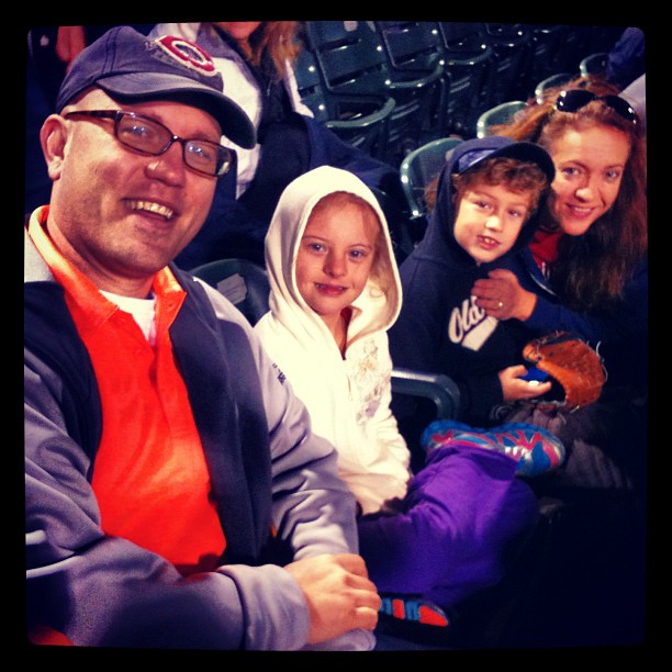 Your author & his family at Slugger Field 2013 as crowd members for scene in  Produce