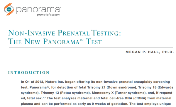 Panorama fetal dna