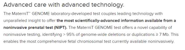 MaterniT Genome webpage