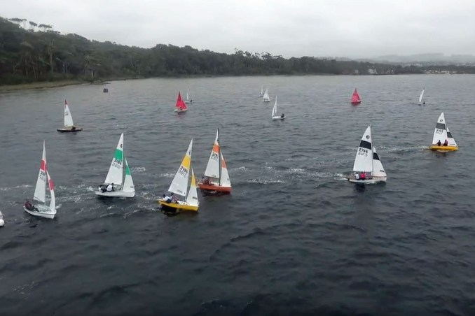 A strong fleet of Western Australian 125s competed in the recent Walpole in the Trees regatta. Photo: George Coop
