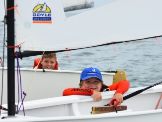 The Green Fleet racing (swimming as well) was full of fun and excitement. Photos: Down Under Sail