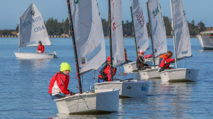 Racing at the 2017 SA Optimist Frostbite. Photos: Caroline Cowen