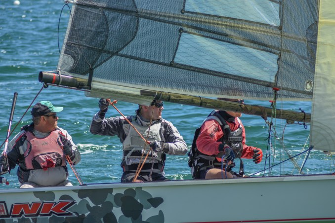 'Spank', skippered by John Weigand with Joe Kelly and Tom Alder.