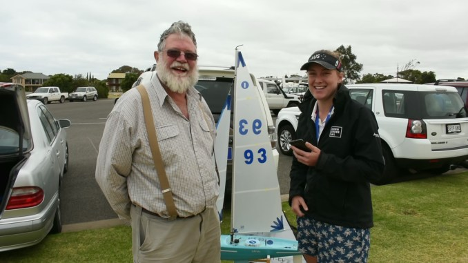 Cass Schlimbach spoke to Peter White at Goolwa's radio yacht racing today.