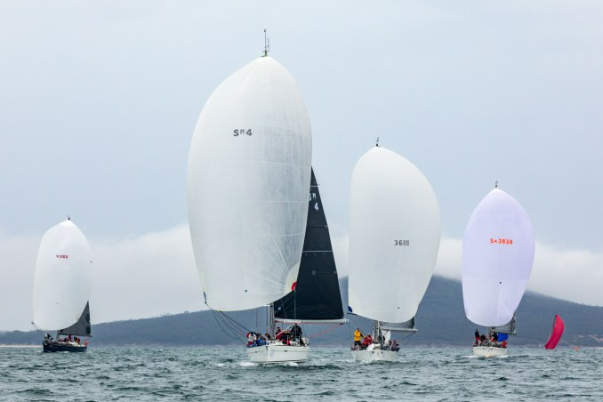 Division one boats racing on Boston Bay. Photos: Take 2 Photography