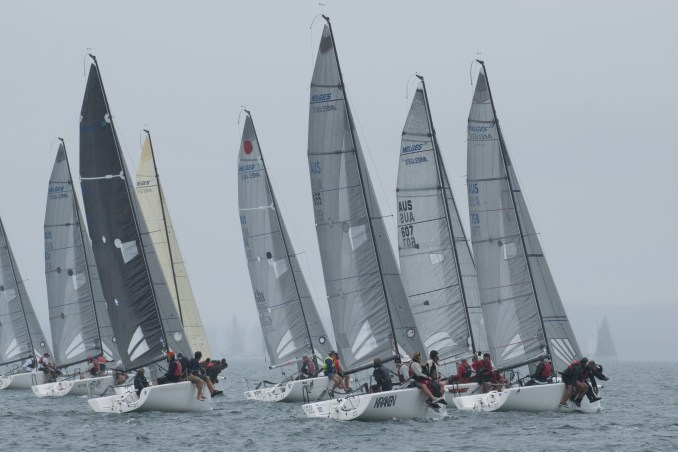 The Melges 24 fleet in Port Lincoln has seen some close racing. Photos: Ally Graham