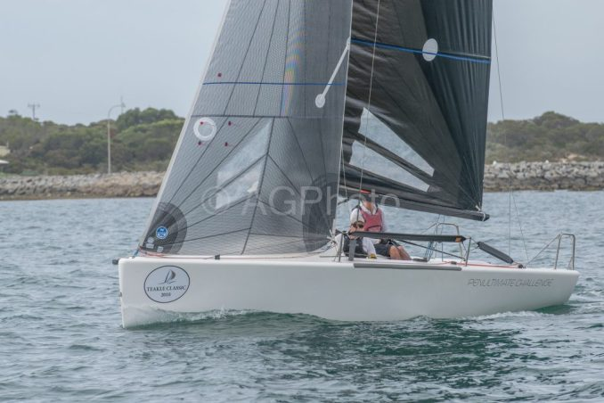 Jon Newman sailed well and took a heat in Penultimate Challenge. Photos: Ally Graham